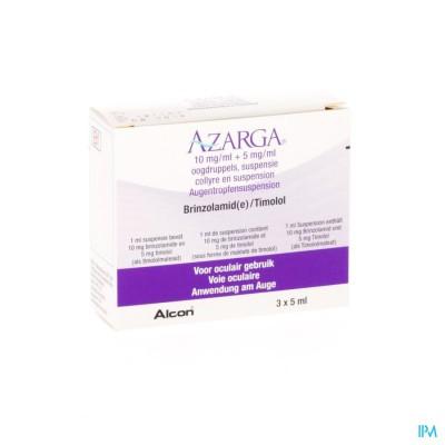 AZARGA COLLYRE SUSP. 3 X 5 ML
