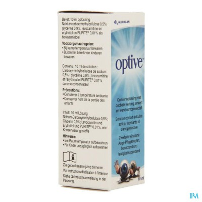 Optive Comfortoplossing Dubbele Werking 10ml