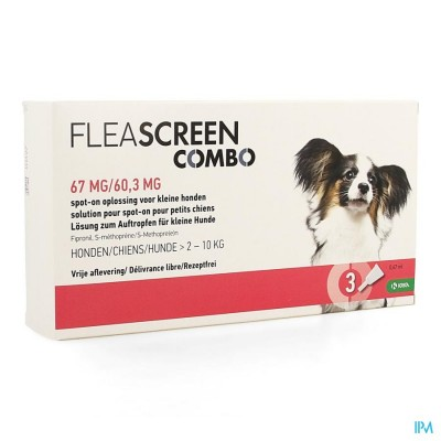 FLEASCREEN COMBO 67MG/60,3MG SPOT ON HOND PIPET 3