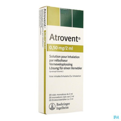 ATROVENT MONODOSE 0,50MG/2ML VIALS 20