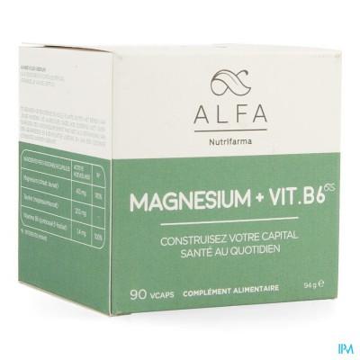Alfa Magnesium + Vit B6 V-caps 90