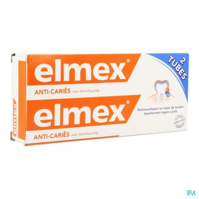 ELMEX ANTICARIES TANDP TUBE 2 X 75ML