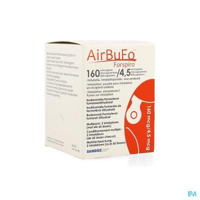 AIRBUFO FORSPIRO 160MCG/4,5MCG INHAL. 2 X 60DOSIS