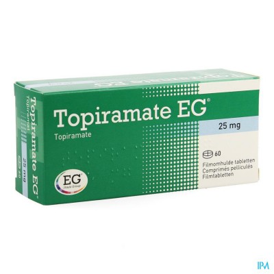 TOPIRAMATE EG 25 MG COMP PELL 60 X 25 MG