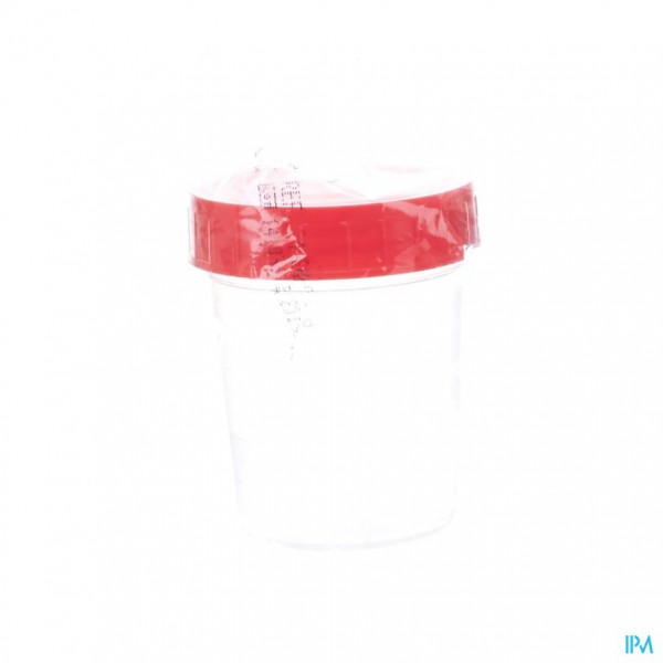 URINEPOT STER + CAP ROOD 100ML 1 FAG